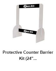 Protective Counter Barrier 24″