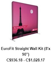 Eurofit Straight Wall Kit 8'x90″
