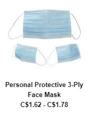 Personal Protective 3 Ply Face Mask