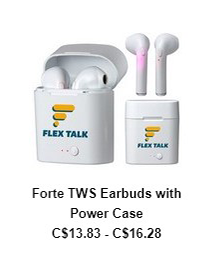 Forte TWS Earbuds with Power Case