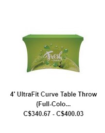 4′ UltraFit Curve Table Throw (Full-Color Full Bleed)