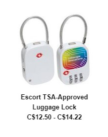 Escort TSA-Approved Luggage Lock