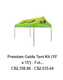 Premium Gable Tent Kit (10′ x 15′) – Full Color Full Bleed