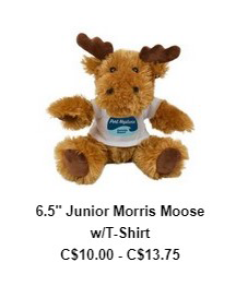 6.5″ Junior Morris Moose w/T-Shirt