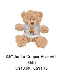 6.5″ Junior Cooper Bear w/T-Shirt