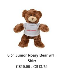6.5″ Junior Roary Bear w/T-Shirt