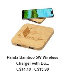 Panda Bamboo 5W Wireless Charger with Dual USB Ports