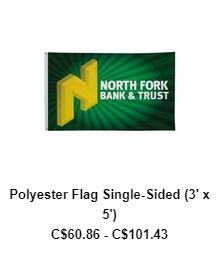 Polyester Flag Single-Sided (3′ x 5′)